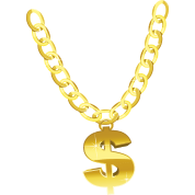 Swag transparent gold chain. By n ma spreadshirt