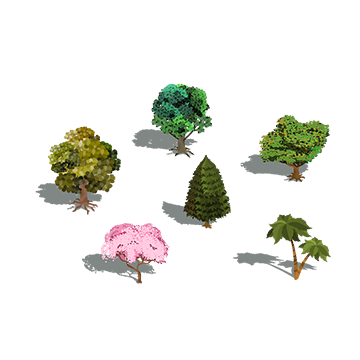 Swamp vector isometric. Tree png images vectors