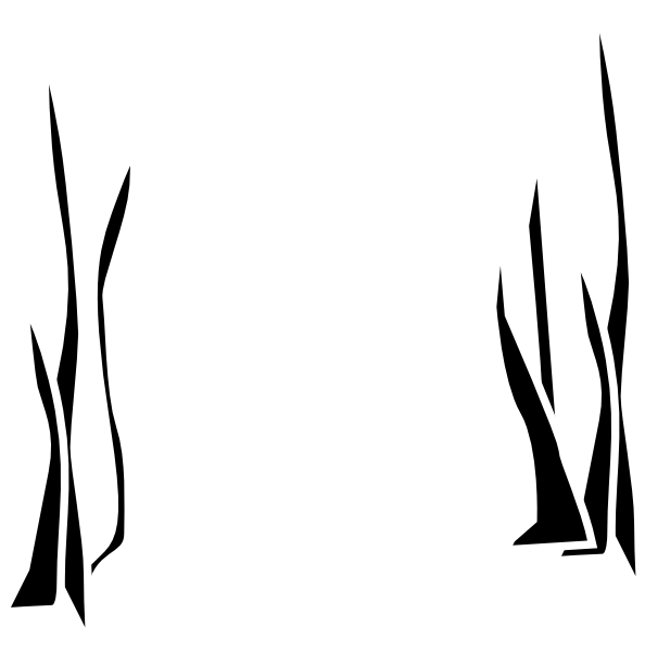 Swamp vector silhouette. Grass svg royalty