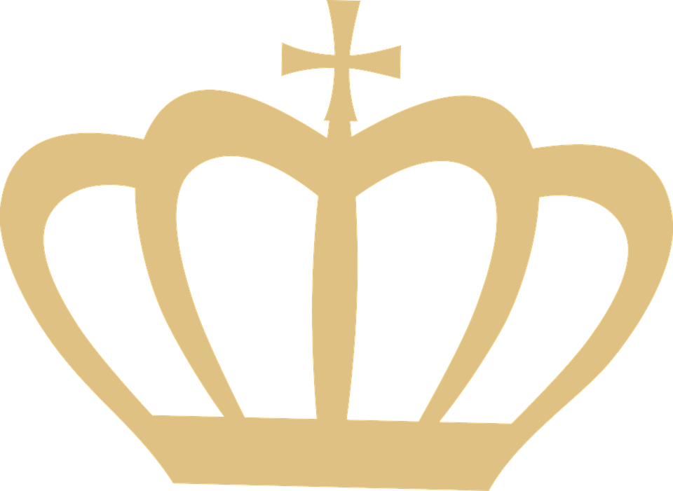 Swan clipart crown silhouette. Free photo gold queen