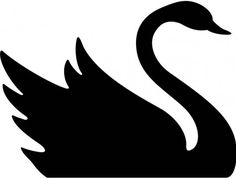 Black with vector logo. Swan clipart crown silhouette vector library stock