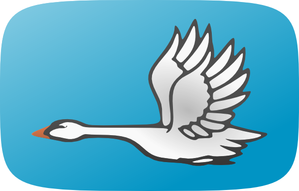 Swan clipart standing. Bird free clipartub gallery
