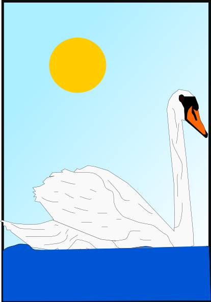 Swan clipart swimming. Clip art at clker