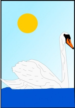 Swan clipart swimming. Free and vector graphics