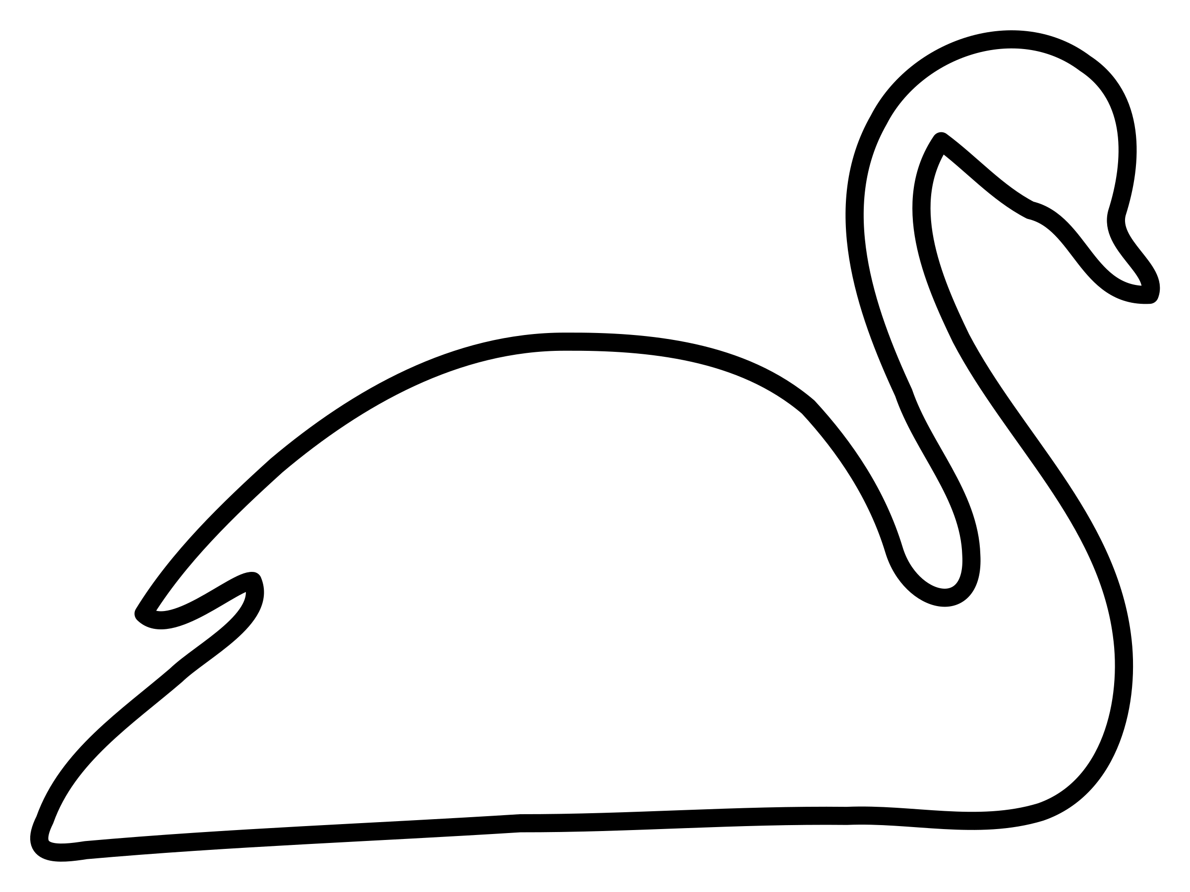 White icons free and. Swan silhouette png clipart library