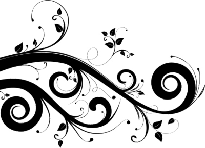 Swooshes vector. Swirls decor design set