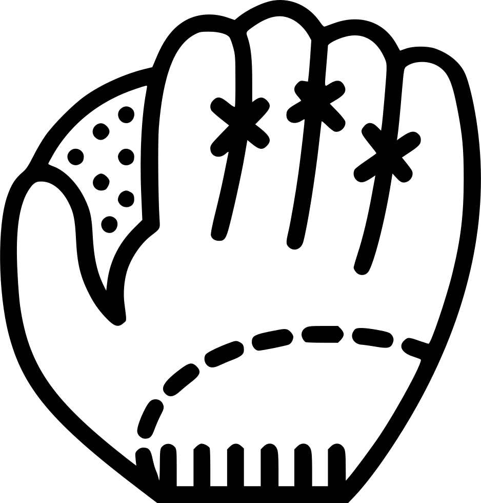 Swashes vector baseball. Glove svg png icon