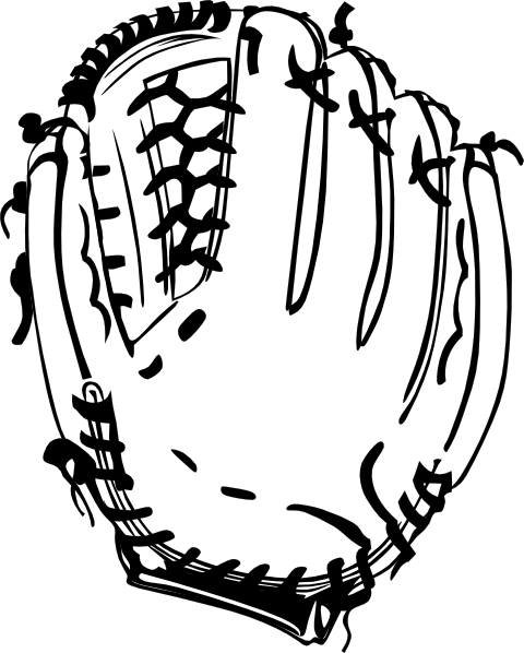 Swashes vector baseball. Gloves glove b and