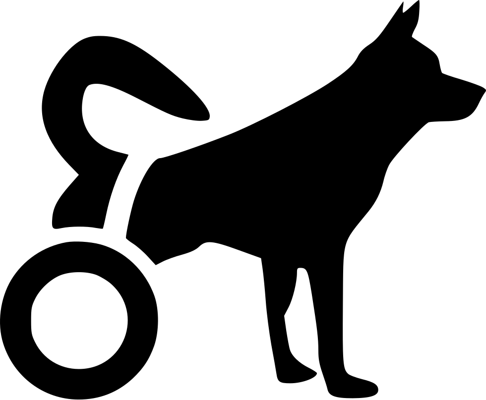 Swashes vector dog tail. Disabled svg png icon