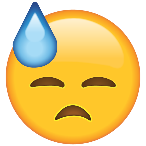 Sweat emoji png. Download face with cold