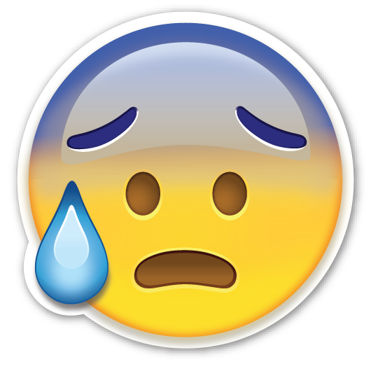 Sweat emoji png. Face with open mouth