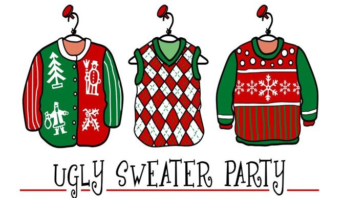 Sweater clipart sweat shirt. Hr ugly holiday contest