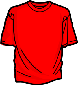 Tshirt clip cartoon. Red t shirt art