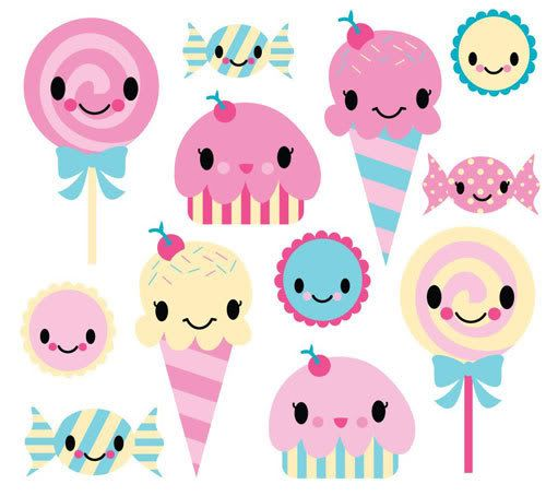Sweet clipart kawaii. Candy pencil and in