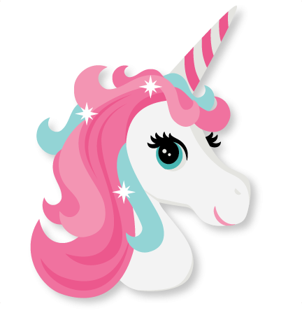Nicorn clipart. Sweet unicorn animal head