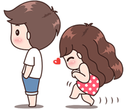 Messing with him . Sweet drawing couple clipart free library