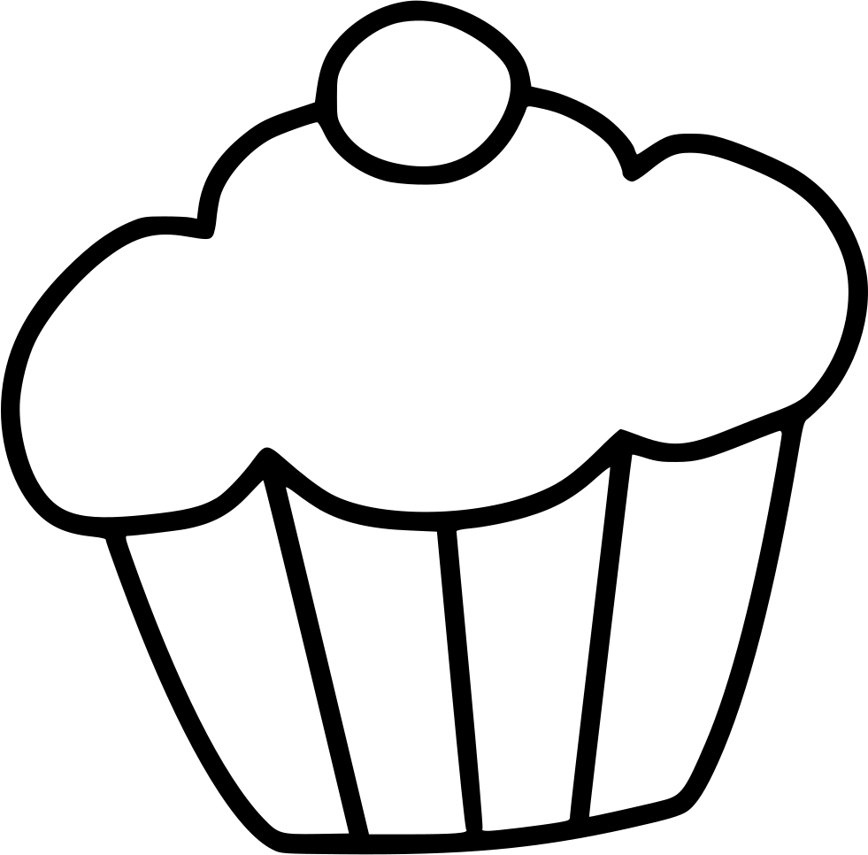 Sweet drawing dessert. Muffin cake svg png