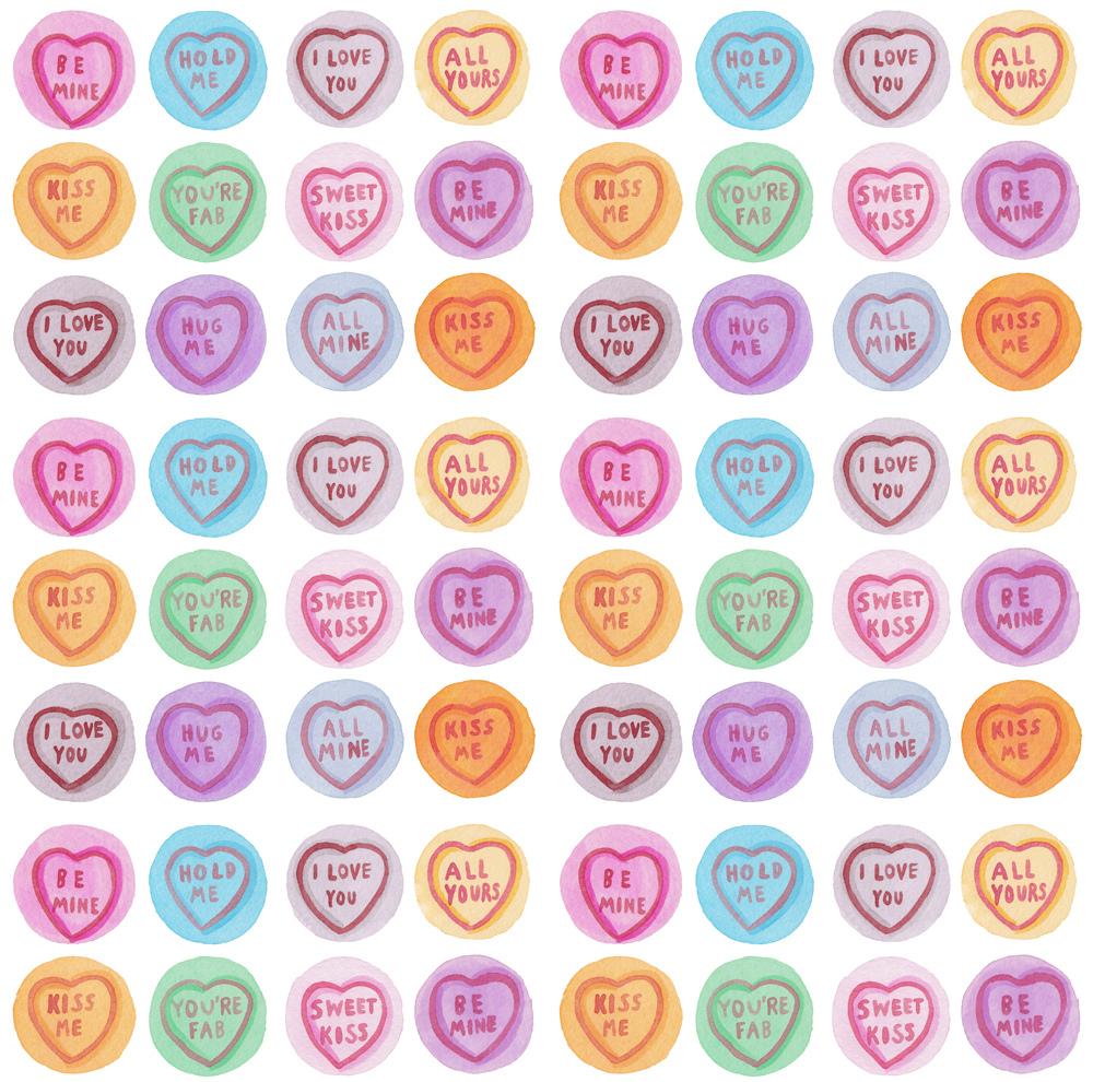Sweets clipart love heart. Hearts pattern laura manfre