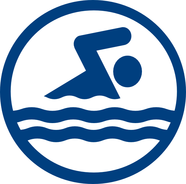 Swim clipart swimming medal. Swimmer logo icon clip