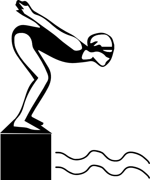 Swimmer silhouette clip art. Swim drawing competitive swimming free stock