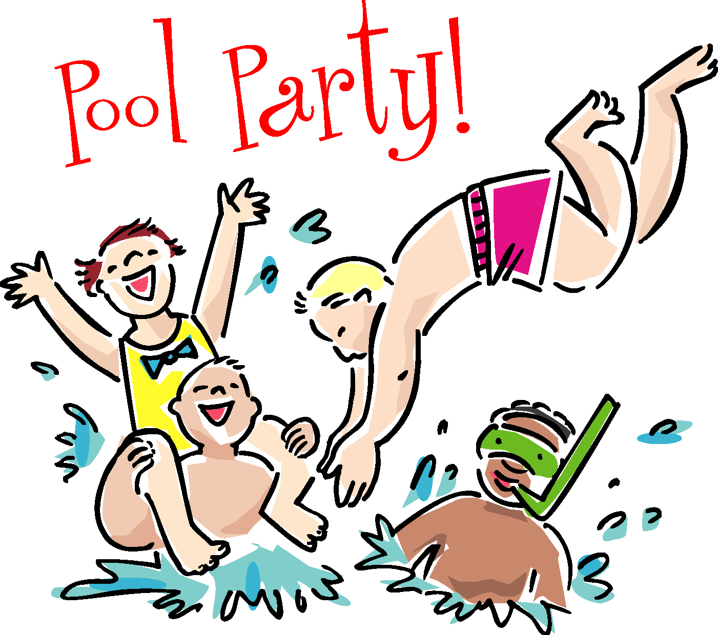 Swimmer clipart pool party. Swimming at getdrawings com