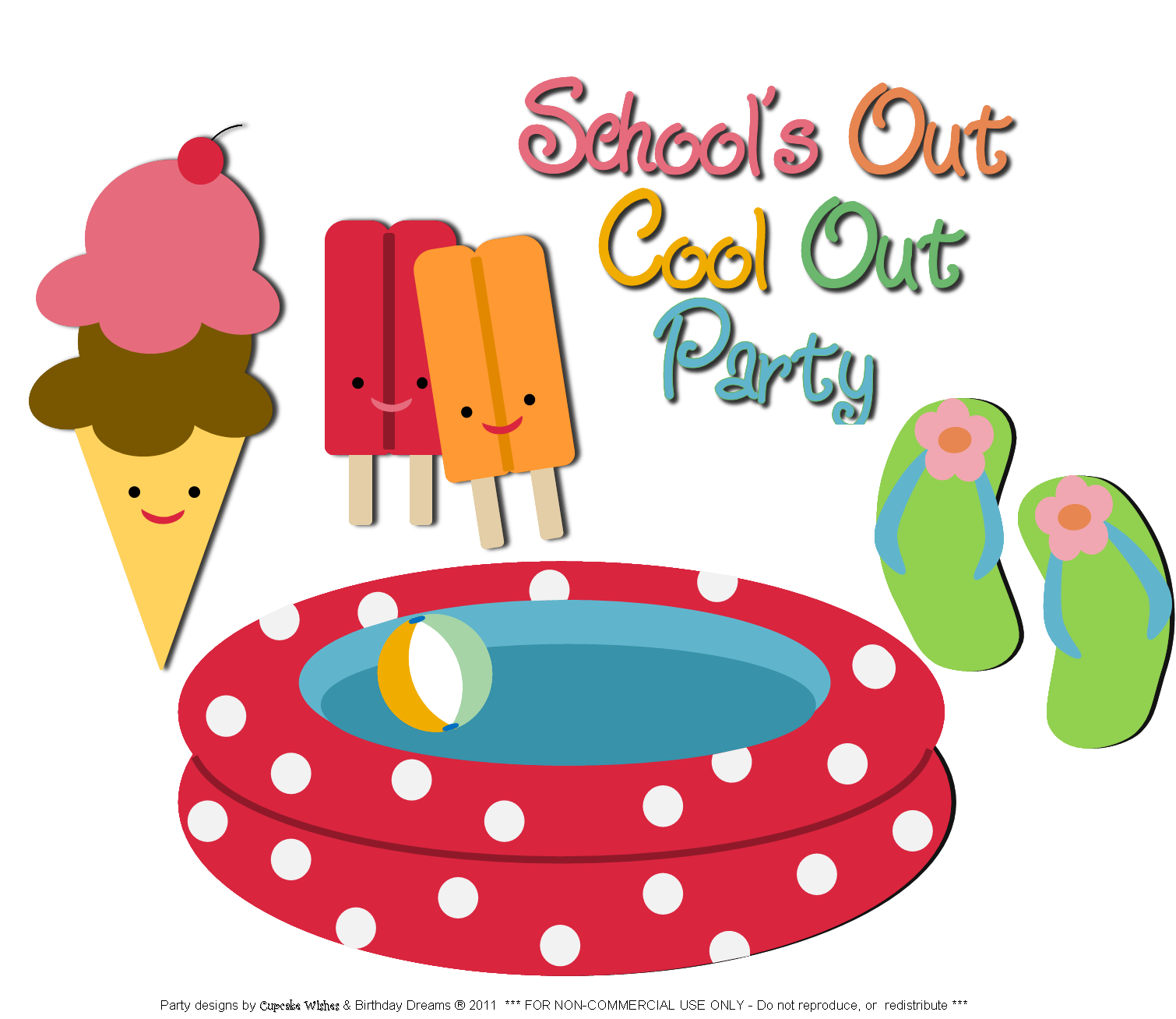 pool party word art png