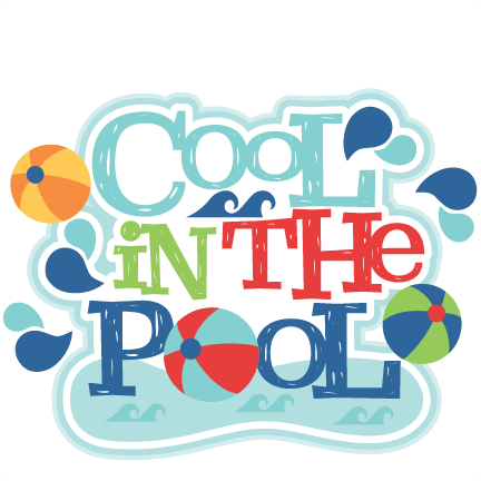 Pool party word art png. Cool in the title