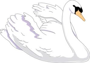 Swimming clipart swan. Clip art at clker