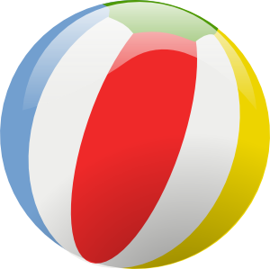Swimming pool ball png. Balls clipart