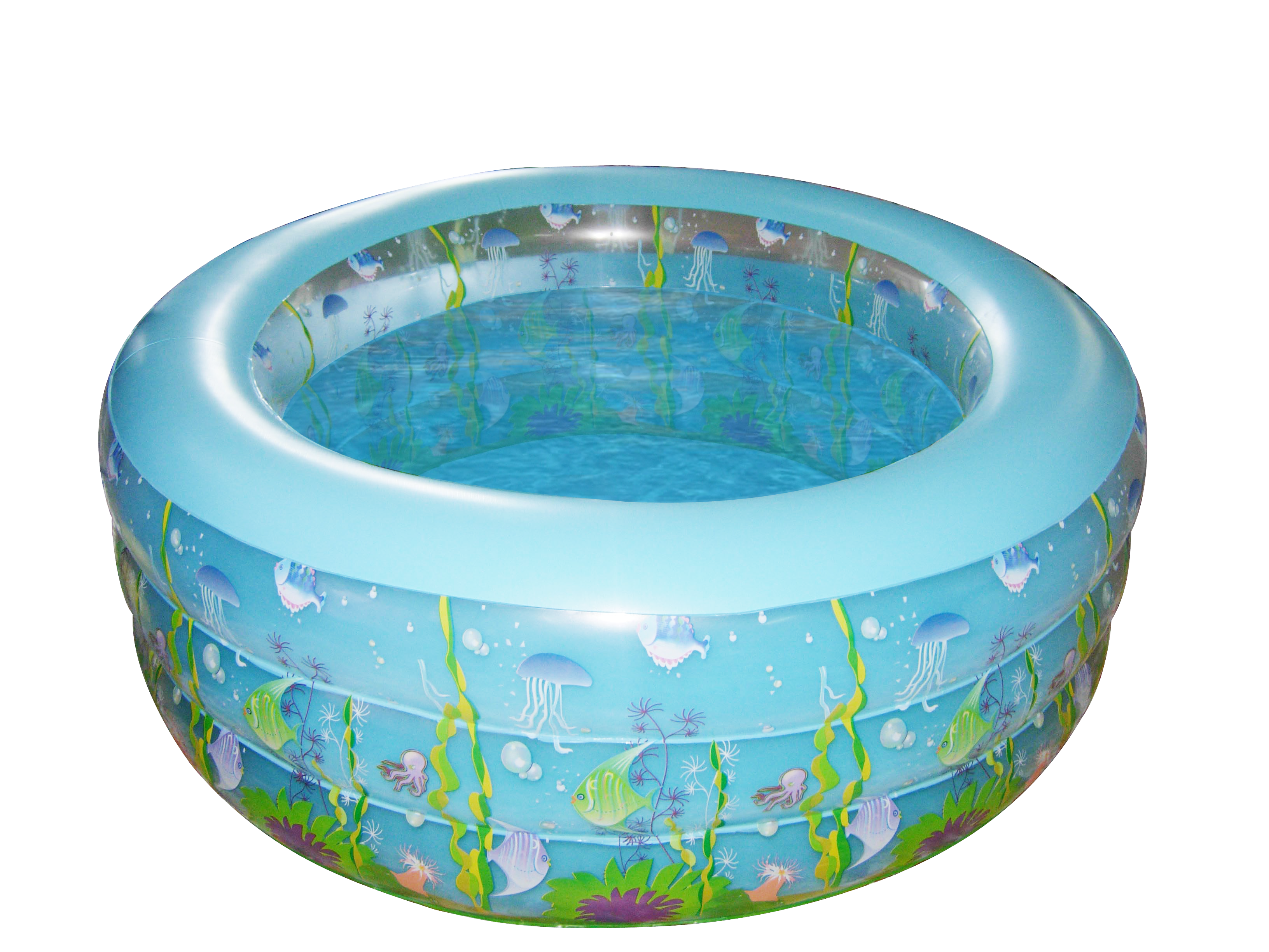 Swimming transparent inflatable. Family pool high quality