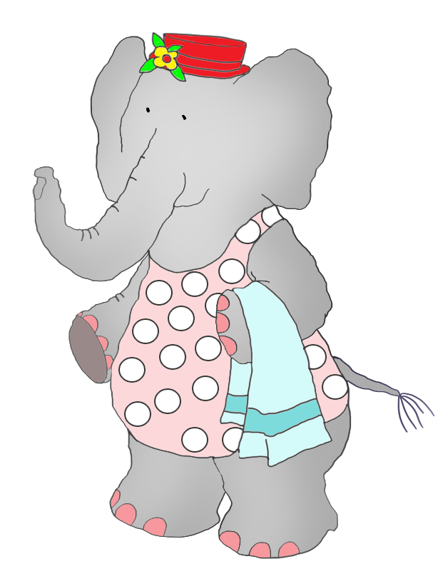 Swimsuit drawing swimming suit. Elephant in swim clipart