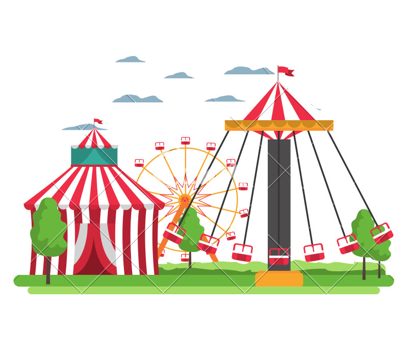 Swing clipart circus. And mechanical chair carnival