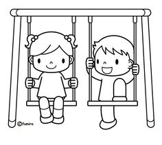Swing clipart coloring page. How do i start