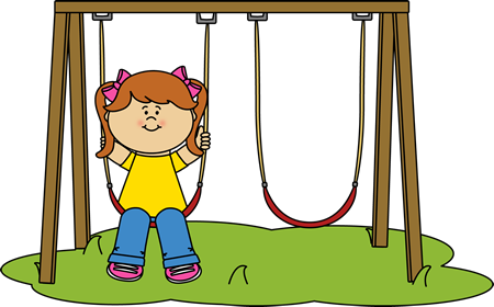 Swing clipart outside recess. Clip art images girl