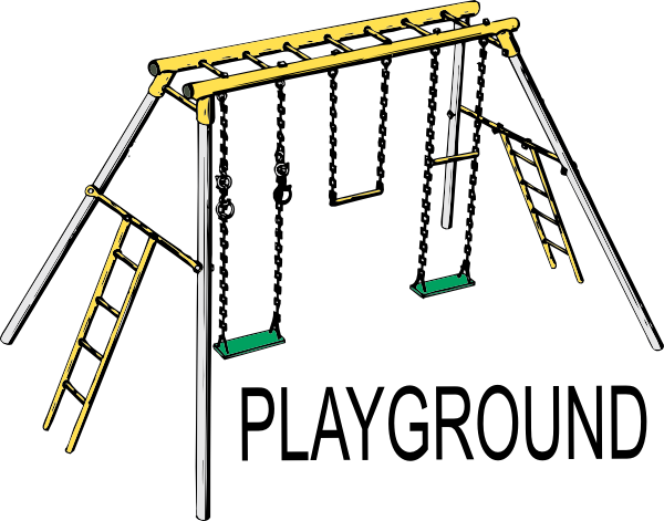 Swing clipart school playground. Clip art at clker