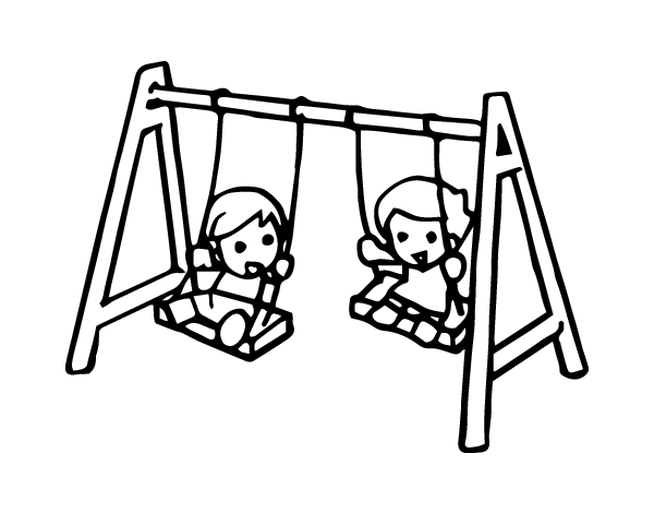 Swings drawing. Swing coloring page coloringcrew