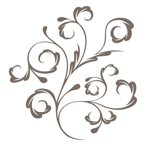 Svg swirls vector. Decorative plant transparent png