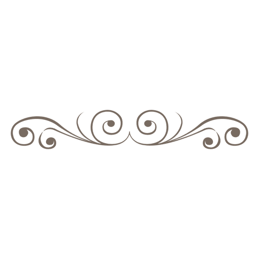 Svg swirls vector. Curvy divider decoration transparent