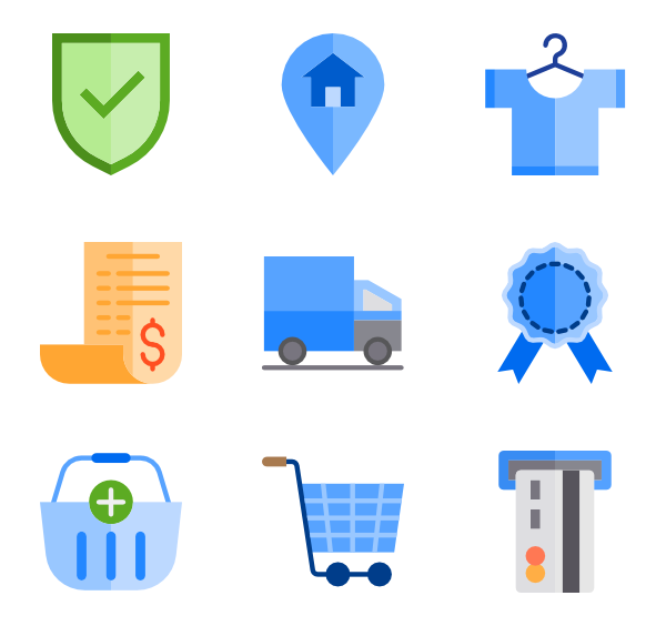 Payment icons free ecommerce. Swish vector double line clipart royalty free