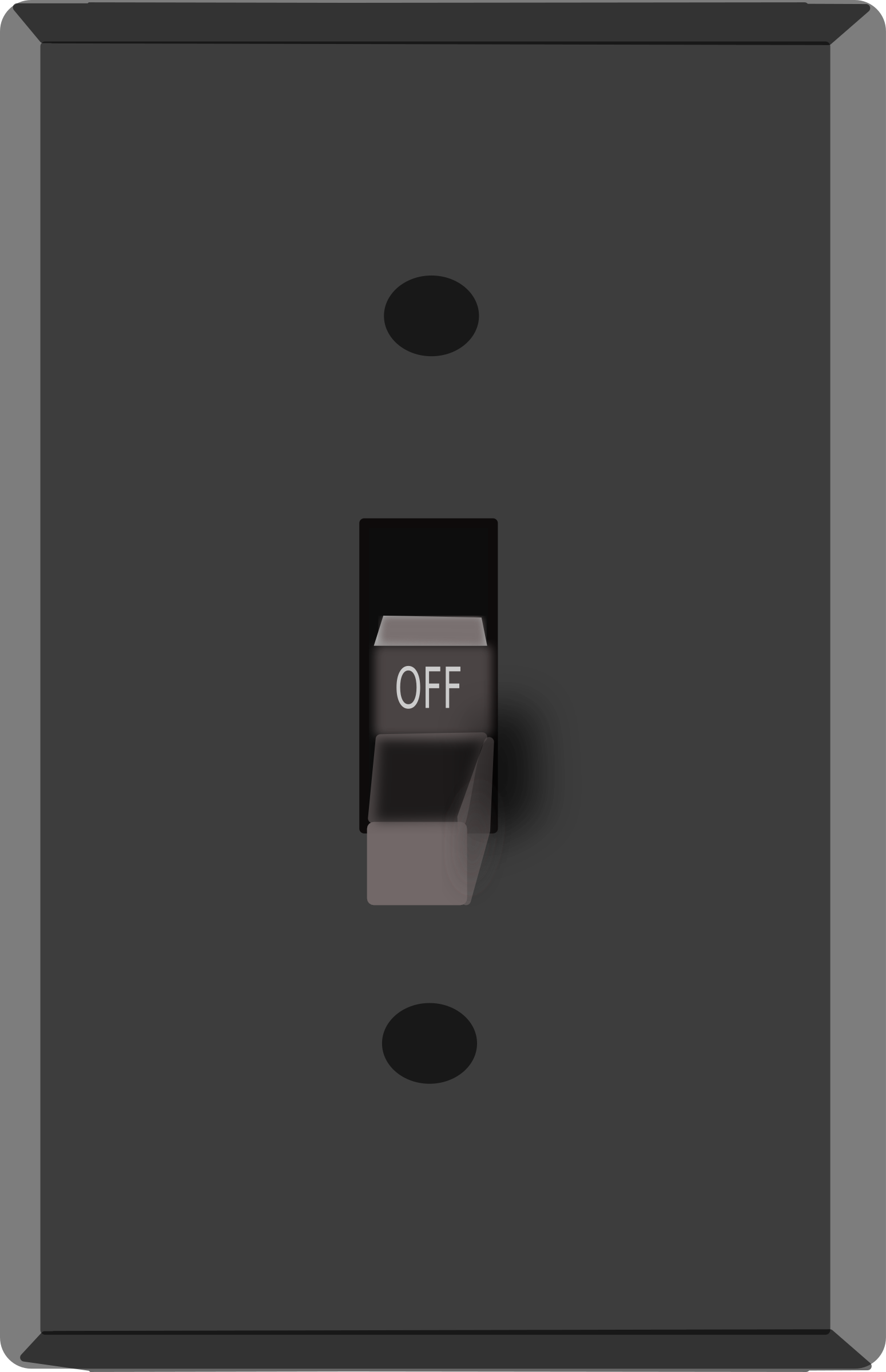 Drawing off switch. Clipart light big image