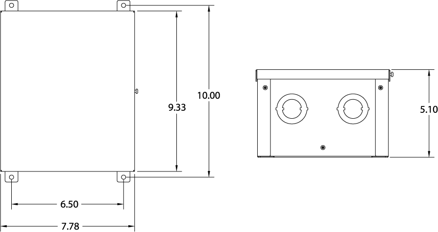Switch drawing.  a hardwire model clip art library