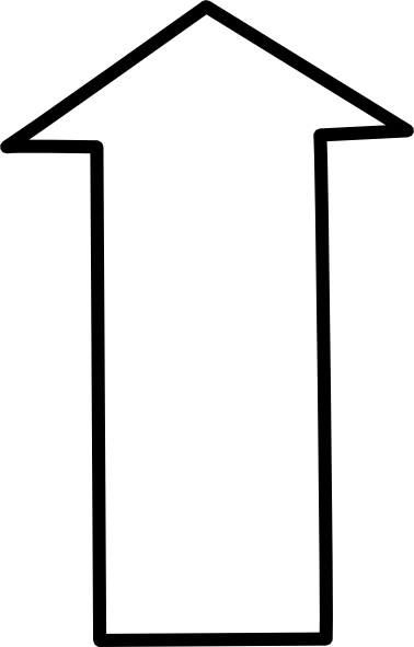 Up vector large arrow. Free white cliparts download