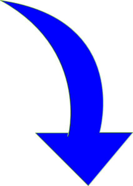 up vector blue curved arrow