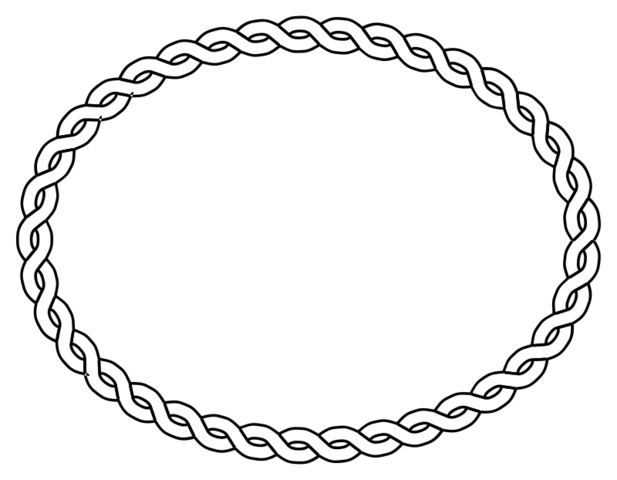 Swoop vector oval. Free rope border psd