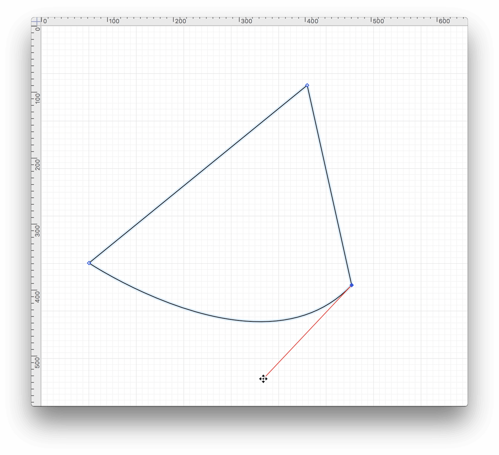 Swoop vector simple curve. Omnigraffle for mac user