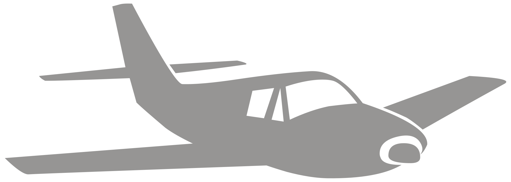 Wing svg airplane. File silhouette r wikimedia