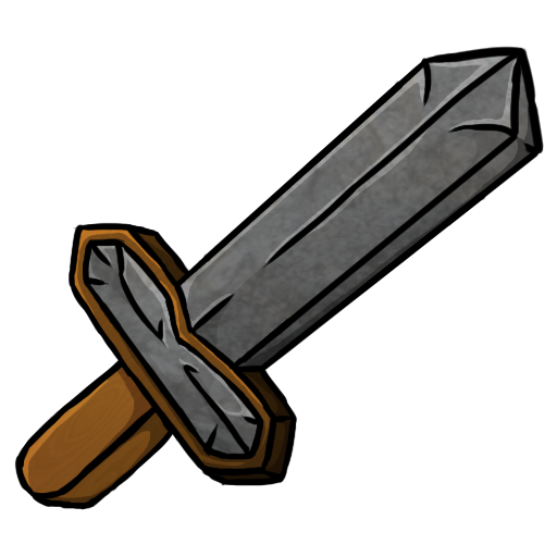 Minecraft stone sword png. In the clipart at