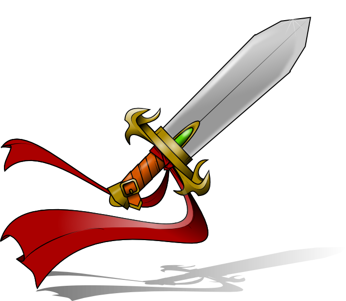 Yellow clipart sword. Free swords cliparts download