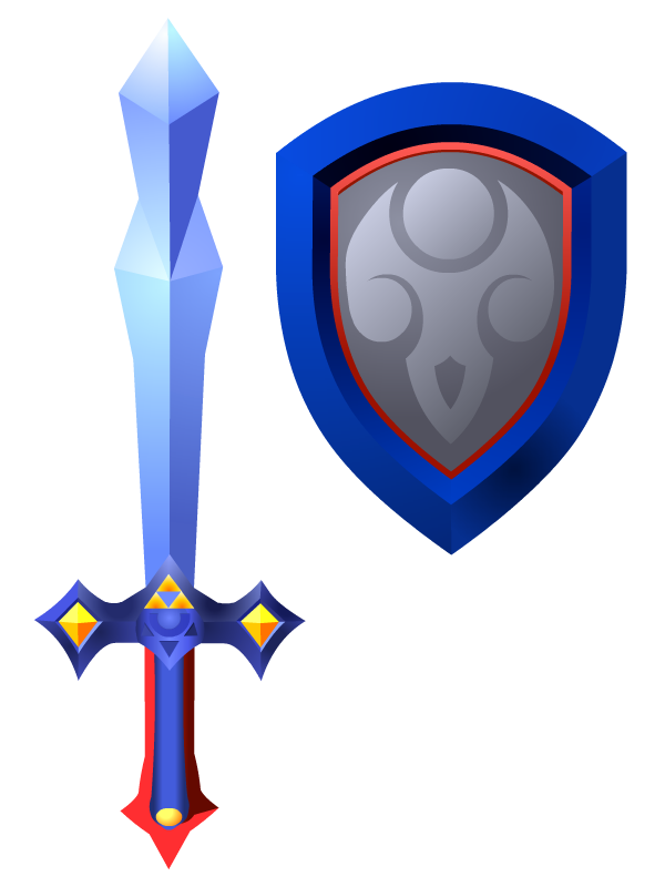 Sword clipart magic sword. Magical and shield by