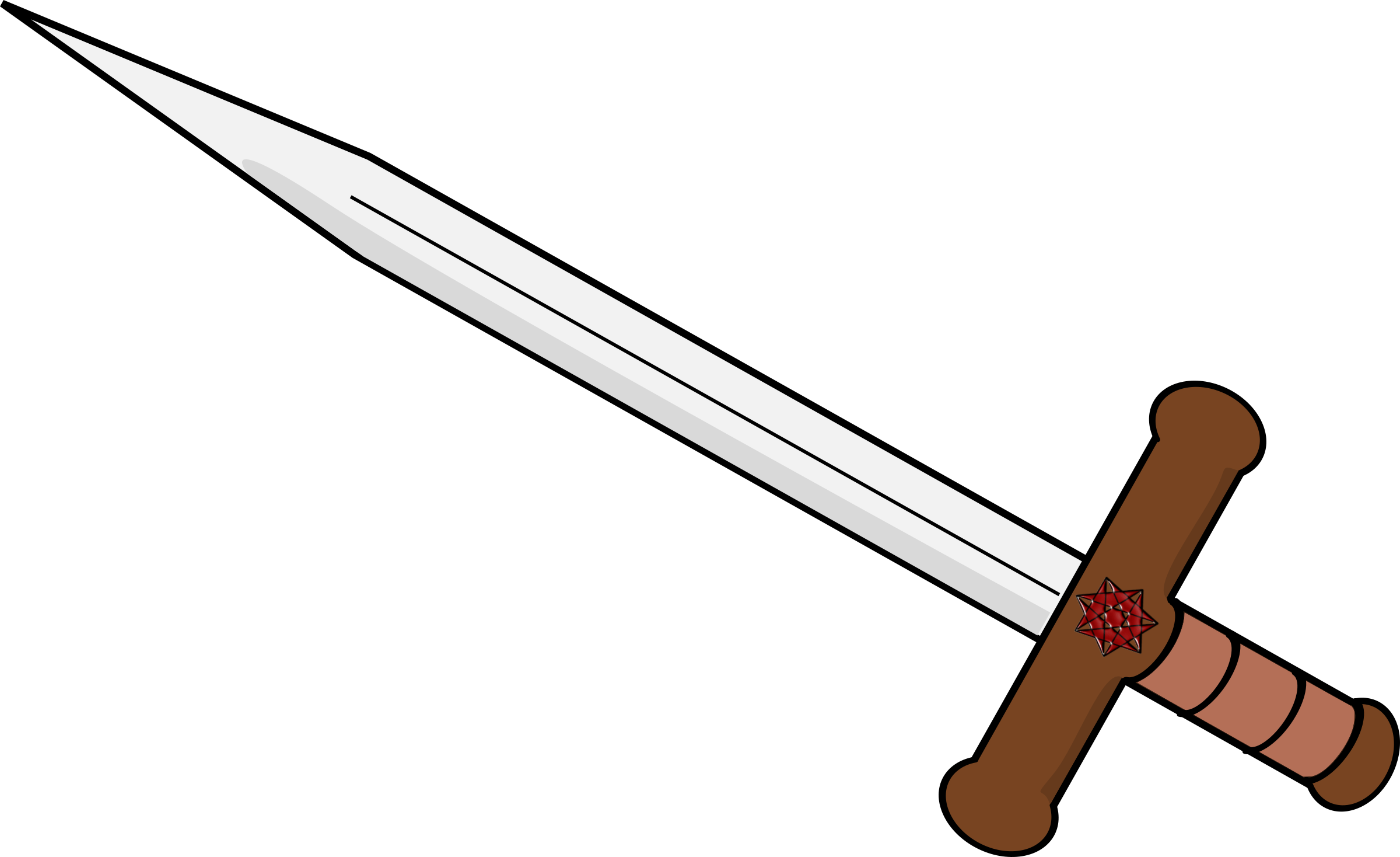 Sword clipart original. Double edged icons png